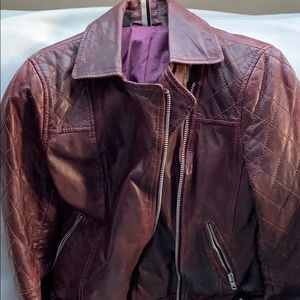 Leather coat/ biker jacket